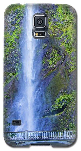 Galaxy S5 Case featuring the photograph Multnomah Falls Bridge by Jonny D