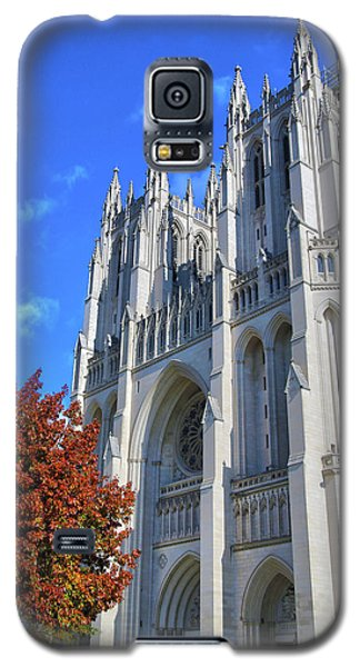 Galaxy S5 Case featuring the photograph National Cathedral by Mitch Cat