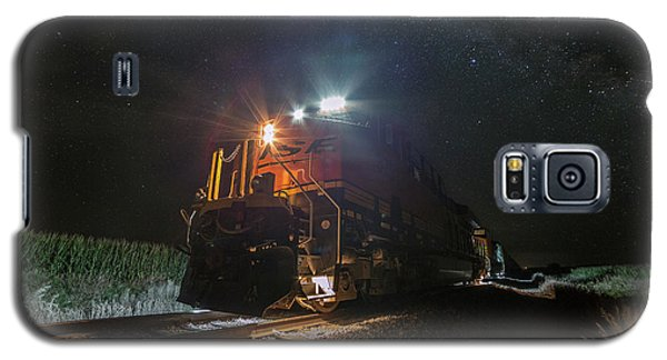 Galaxy S5 Case featuring the photograph Night Train  by Aaron J Groen