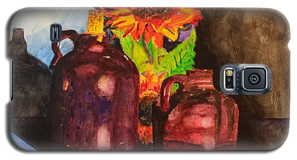 Galaxy S5 Case featuring the painting 2 Old Jugs 1.. by Melvin Turner