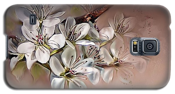 Galaxy S5 Case featuring the painting Oriental Pear Blossom by Bonnie Willis