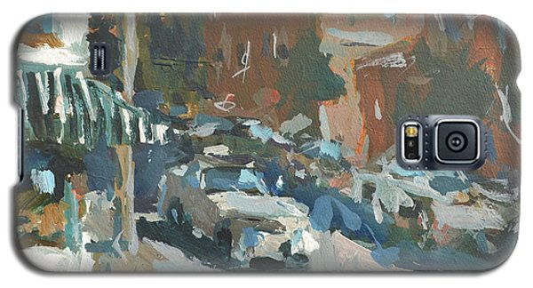 Galaxy S5 Case featuring the painting Original Contemporary Urban Painting Featuring Richmond Virginia by Robert Joyner