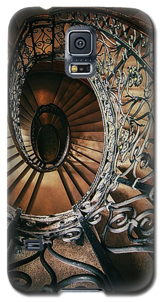 Galaxy S5 Case featuring the photograph Ornamented Spiral Staircase by Jaroslaw Blaminsky