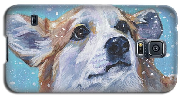 Galaxy S5 Case featuring the painting Pembroke Welsh Corgi by Lee Ann Shepard