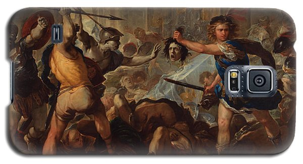 Gorgon Galaxy S5 Case - Perseus Turning Phineas And His Followers To Stone by Luca Giordano