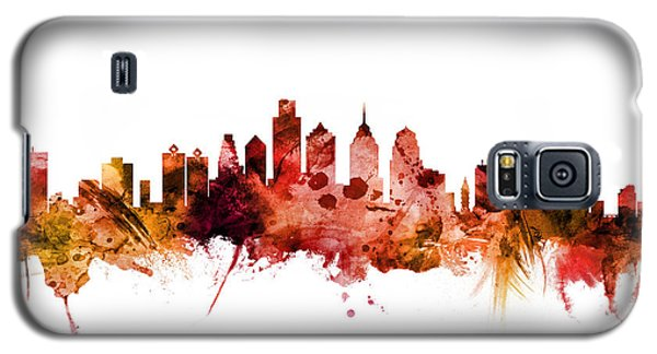 Philadelphia Pennsylvania Skyline Galaxy S5 Case by Michael Tompsett