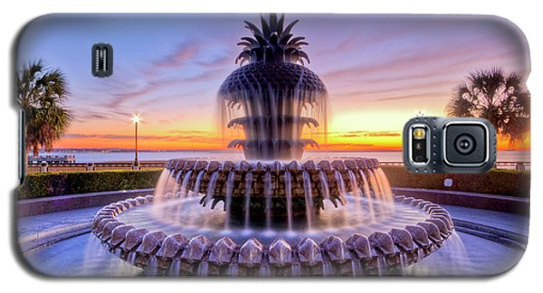 Pineapple Fountain Charleston Sc Sunrise Galaxy S5 Case