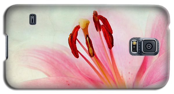 Lily Galaxy S5 Case - Pink Lily by Nailia Schwarz