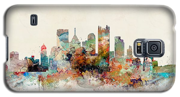 Galaxy S5 Case featuring the painting Pittsburgh Pennsylvania Skyline by Bri B