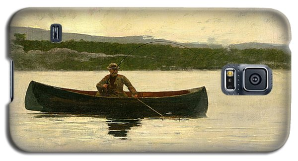 Galaxy S5 Case featuring the painting Playing A Fish by Winslow Homer