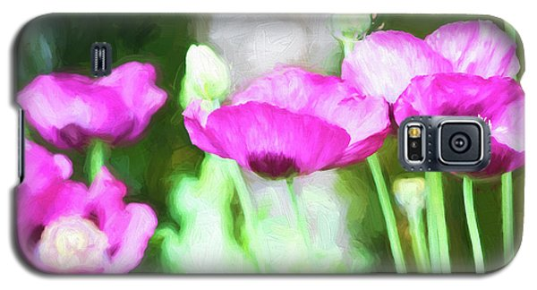 Galaxy S5 Case featuring the painting Poppies by Bonnie Bruno