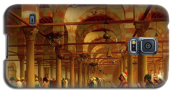 Galaxy S5 Case featuring the painting Prayer In The Mosque by Jean-Leon Gerome