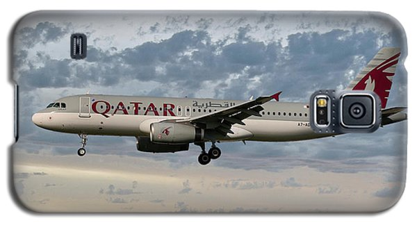 Jet Galaxy S5 Case - Qatar Airways Airbus A320-232 by Smart Aviation