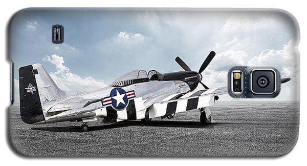 Galaxy S5 Case featuring the digital art Quick Silver P-51 by Peter Chilelli
