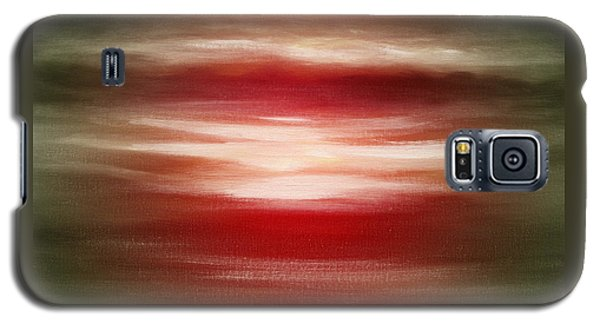 Red Abstract Sunset Galaxy S5 Case