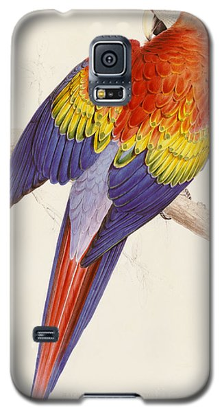 Red And Yellow Macaw Galaxy S5 Case