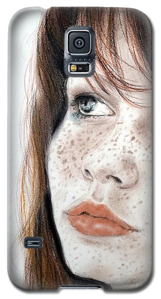 Red Hair And Freckled Beauty Galaxy S5 Case by Jim Fitzpatrick