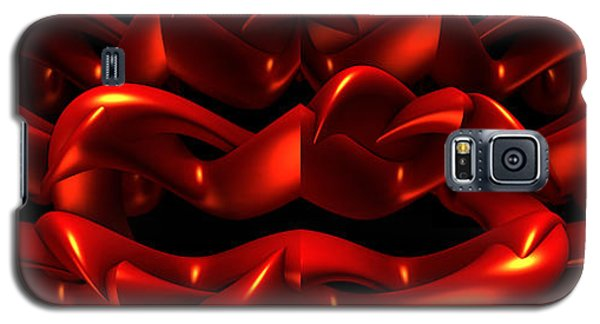 Galaxy S5 Case featuring the digital art Red by Lyle Hatch