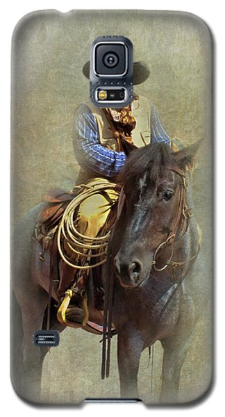 Galaxy S5 Case featuring the photograph Ride Em Cowboy by David and Carol Kelly