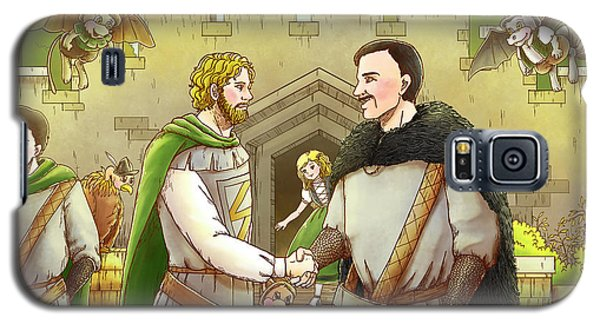 Robin Hood And The Captain Of The Guard Galaxy S5 Case by Reynold Jay