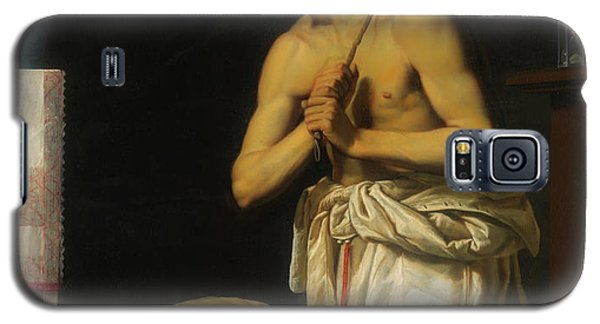 Galaxy S5 Case featuring the painting Saint Dominic In Penitence by Filippo Tarchiani