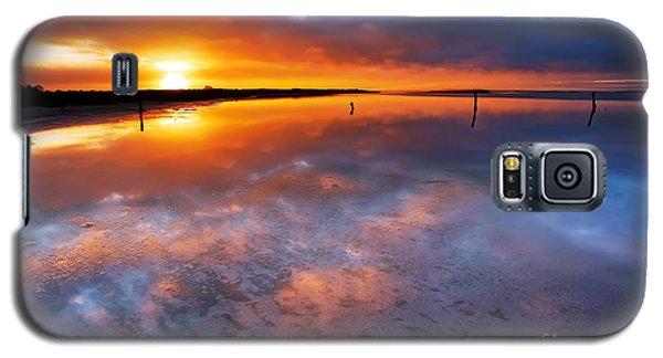 Salt Pan Sunrise Galaxy S5 Case by Bill  Robinson