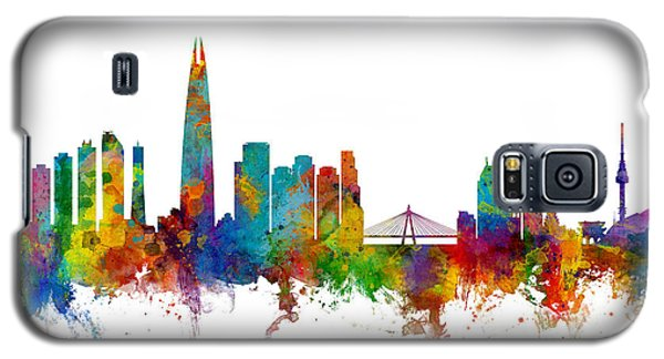 Galaxy S5 Case featuring the photograph Seoul Skyline South Korea by Michael Tompsett