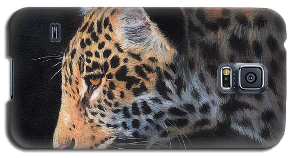 Galaxy S5 Case featuring the painting South American Jaguar by David Stribbling