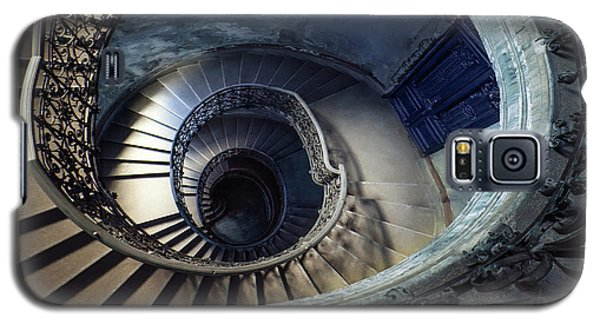 Galaxy S5 Case featuring the photograph Spiral Staircase With Ornamented Handrail by Jaroslaw Blaminsky