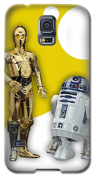 Star Wars C-3po And R2-d2 Galaxy S5 Case by Marvin Blaine