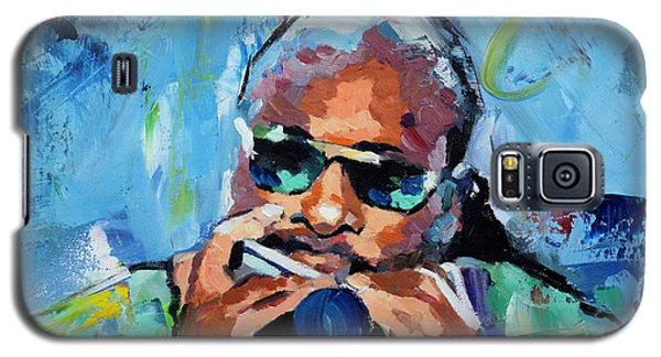 Galaxy S5 Case featuring the painting Stevie Wonder by Richard Day