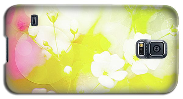 Summer Flowers, Baby's Breath, Digital Art Galaxy S5 Case