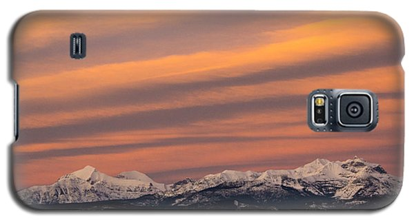 Sunset In Glacier National Park Galaxy S5 Case