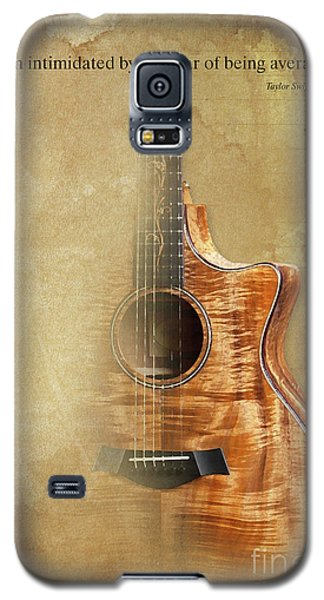 Taylor Inspirational Quote, Acoustic Guitar Original Abstract Art Galaxy S5 Case by Pablo Franchi