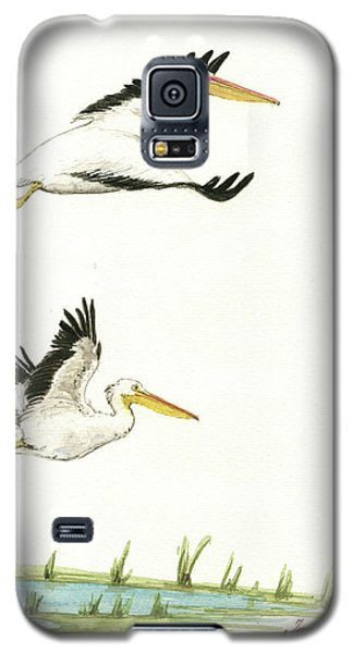 The Fox And The Pelicans Galaxy S5 Case by Juan Bosco