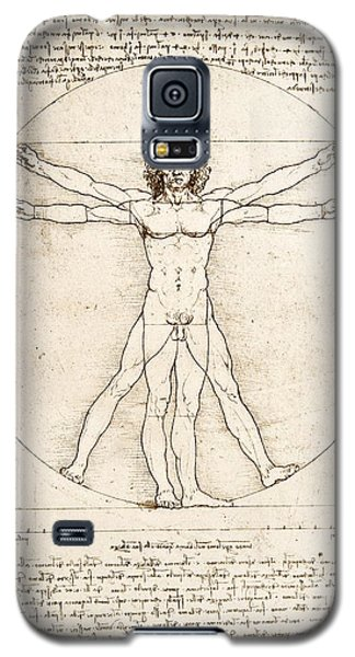 The Proportions Of The Human Figure Galaxy S5 Case by Leonardo Da Vinci