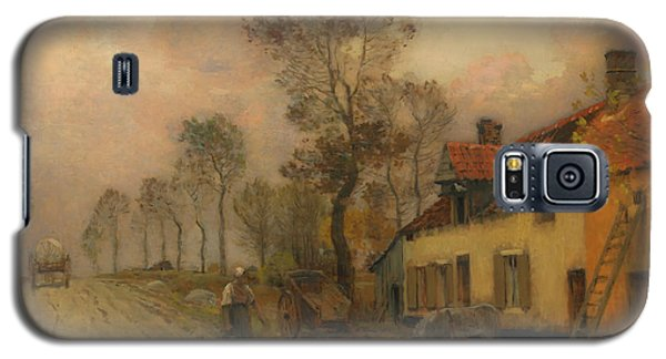 Galaxy S5 Case featuring the painting The Route Nationale At Samer by Jean-Charles Cazin