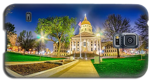 Topeka Kansas Downtown At Night Galaxy S5 Case