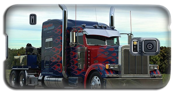 Galaxy S5 Case featuring the photograph Transformers Optimus Prime Tow Truck by Tim McCullough