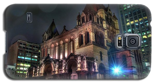 Galaxy S5 Case featuring the photograph Trinity Church - Copley Square Boston by Joann Vitali