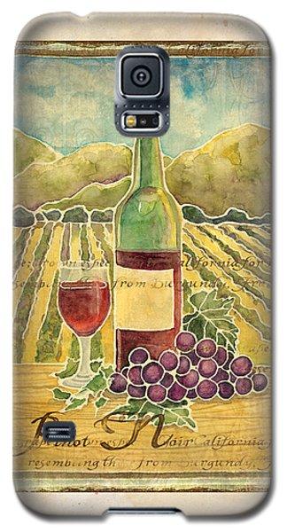 Vineyard Pinot Noir Grapes N Wine - Batik Style Galaxy S5 Case by Audrey Jeanne Roberts
