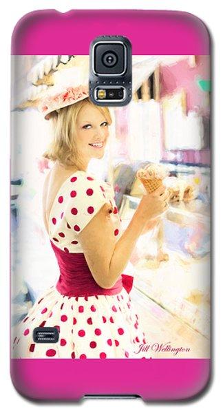 Vintage Val Ice Cream Parlor Galaxy S5 Case