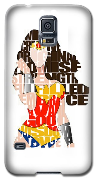Wonder Woman Inspirational Power And Strength Through Words Galaxy S5 Case