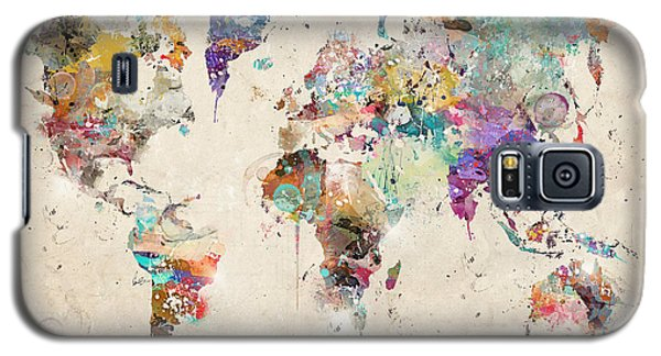 World Map Watercolor Galaxy S5 Case by Bri B