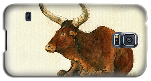 Zebu Cattle Art Painting Galaxy S5 Case