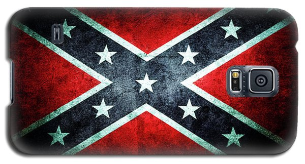 Galaxy S5 Case featuring the photograph Confederate Flag by Les Cunliffe
