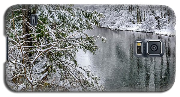 Galaxy S5 Case featuring the photograph Winter Along Cranberry River by Thomas R Fletcher
