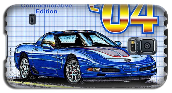 Galaxy S5 Case featuring the drawing 2004 Commemorative Edition Corvette by K Scott Teeters