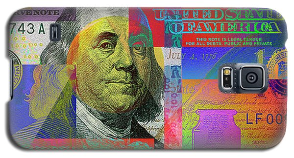 2009 Series Pop Art Colorized U. S. One Hundred Dollar Bill No. 1 Galaxy S5 Case