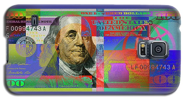 2009 Series Pop Art Colorized U. S. One Hundred Dollar Bill No. 1 Galaxy S5 Case by Serge Averbukh